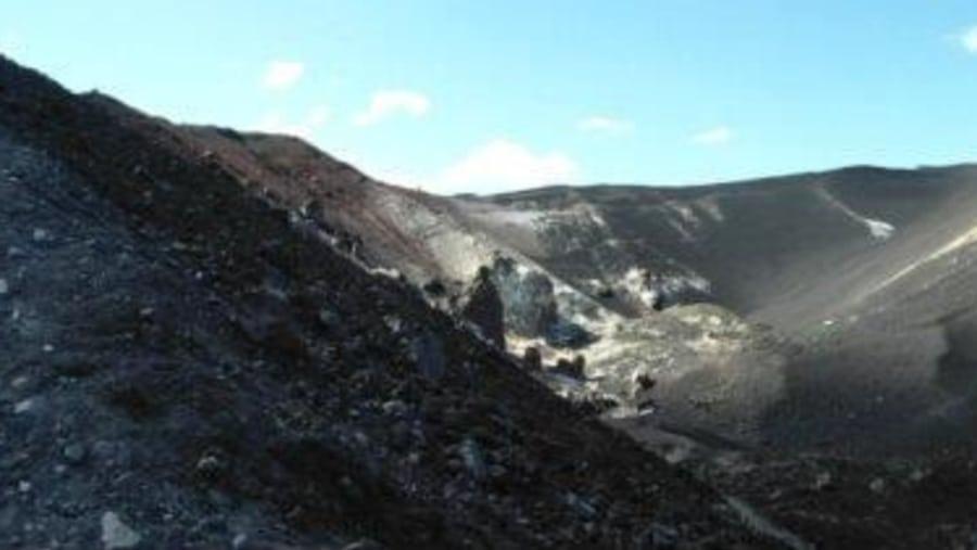 Cerro negro active volcano