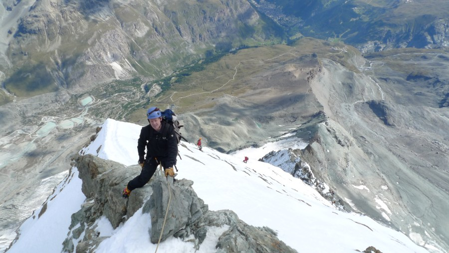 Incredible views, and outstanding weather, Hornli Ridge Matterhorn