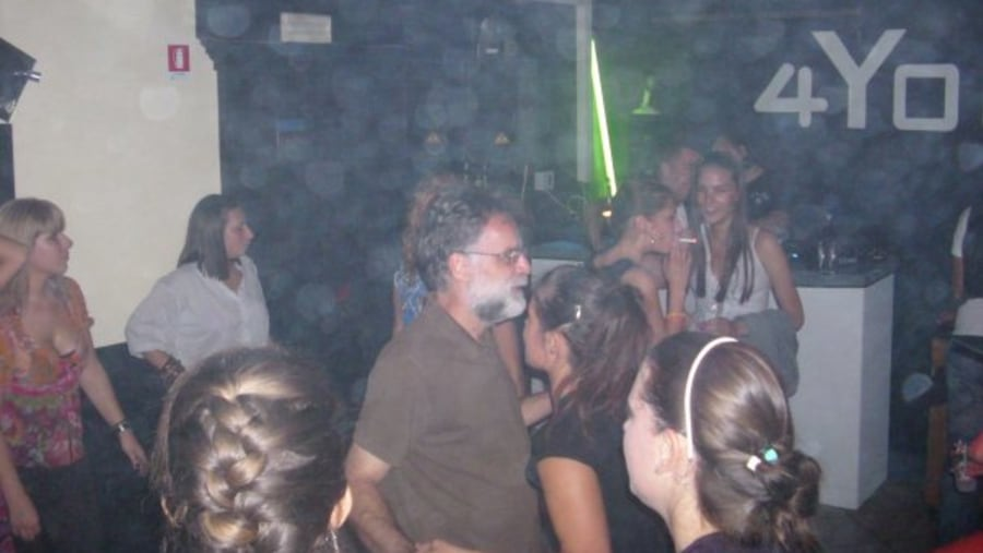 Group in the disco, Spain