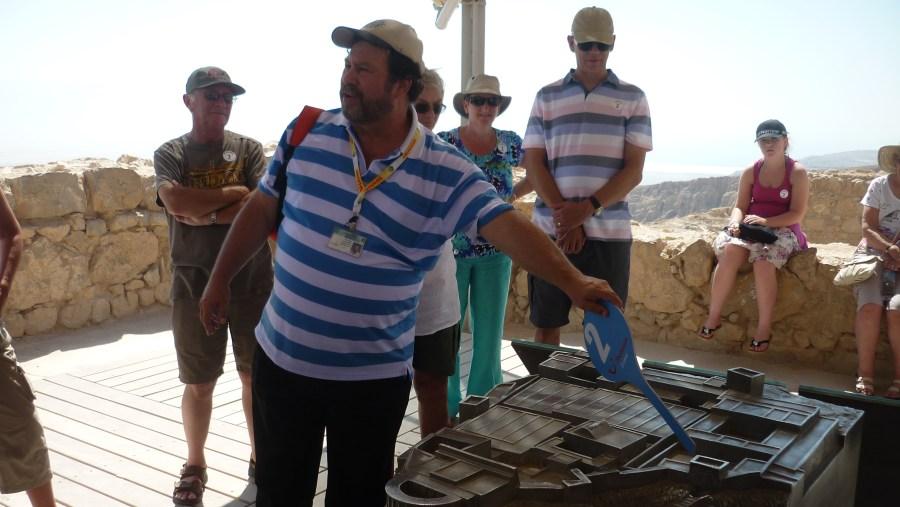 At the top of Masada