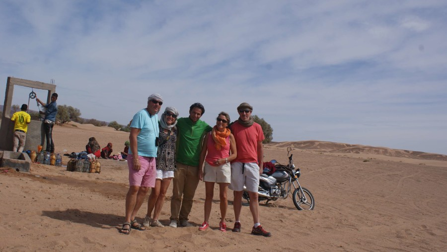 with friends in the desert