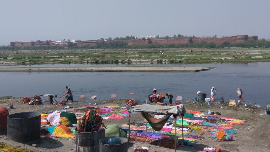 Laundry Place on the bank of River Yamuna.