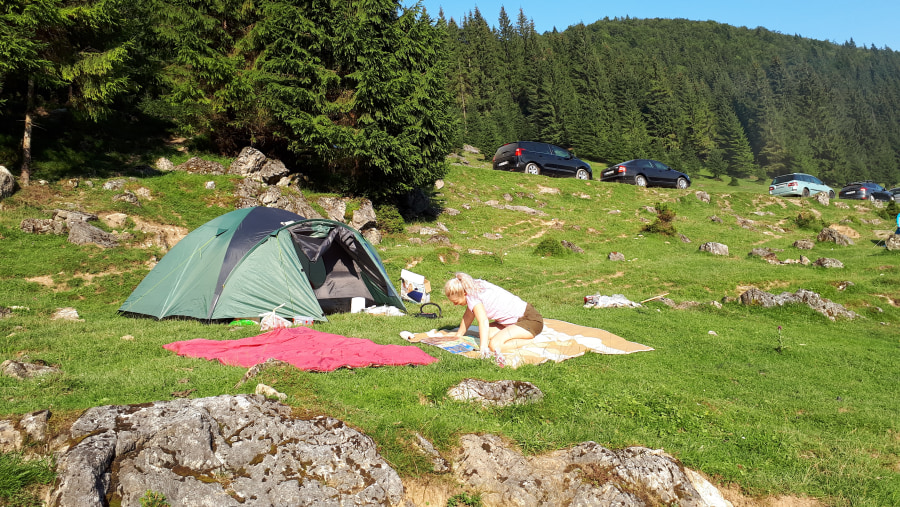 Camp site, our tent in Padis - Carpatian Mountains [2018]