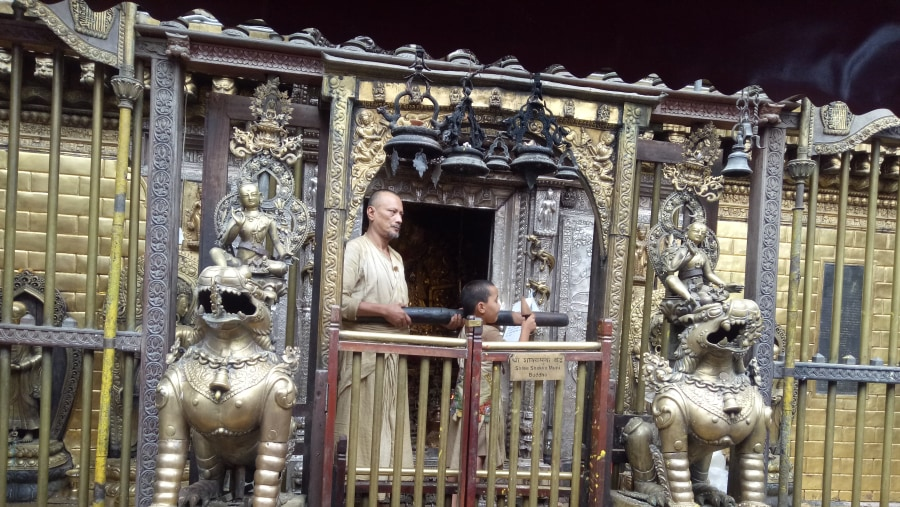 GoldenTemple at Patan during Daily ritual!!
