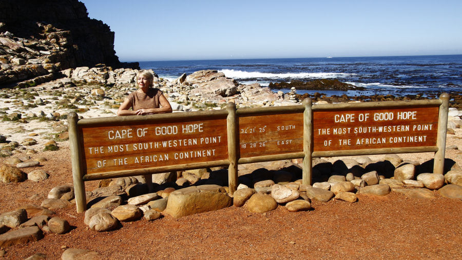 Cape of Good Hope, the most South-Western Point of the African Continent.