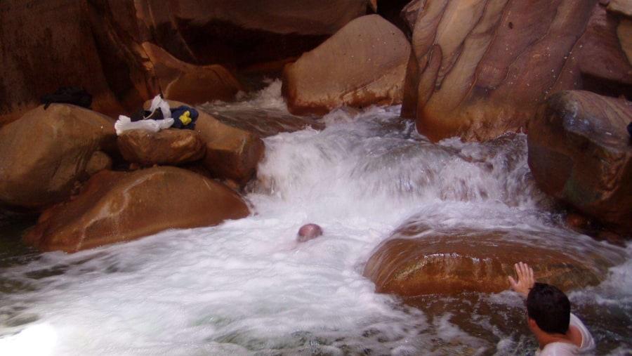 Trekking up the Wadi