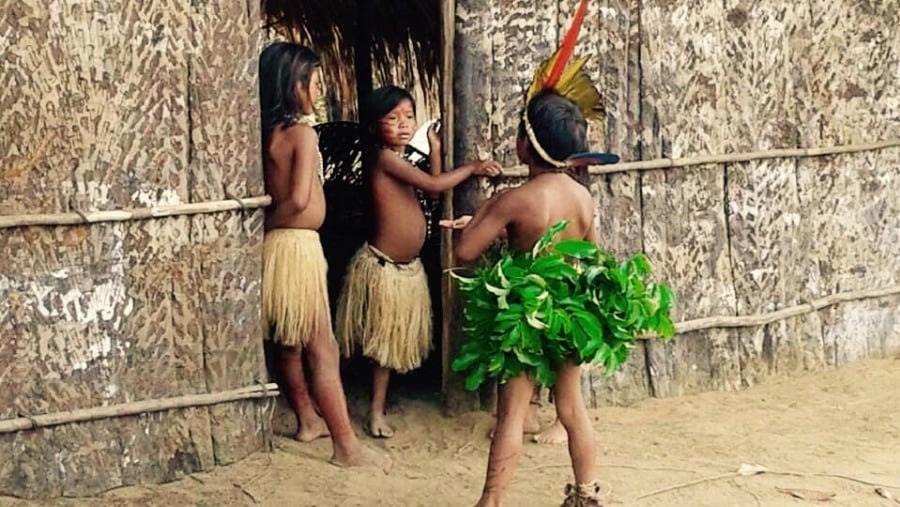 Amerindian Amazon Children