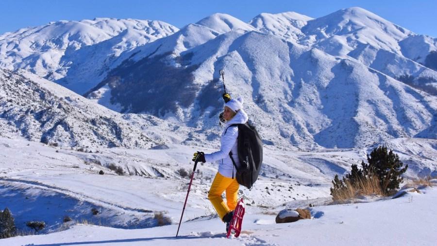Snowshoeing in Tomorr mountain