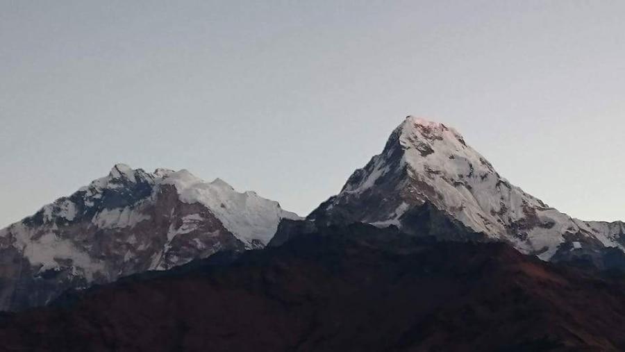 Annapurna south and Annapurna 1st mountain views