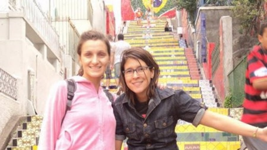 Selaron Stairs with a French Girl