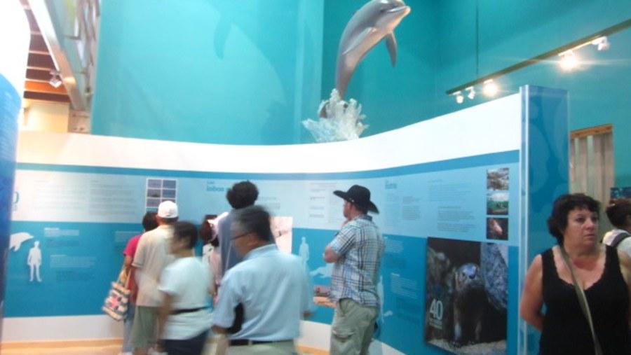 Interpretative display Paracas National Reserve.