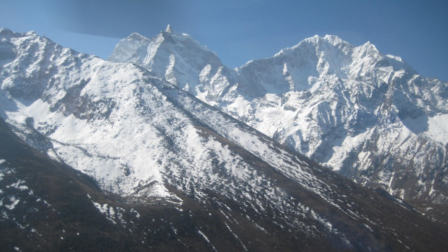 view from Tyangboche