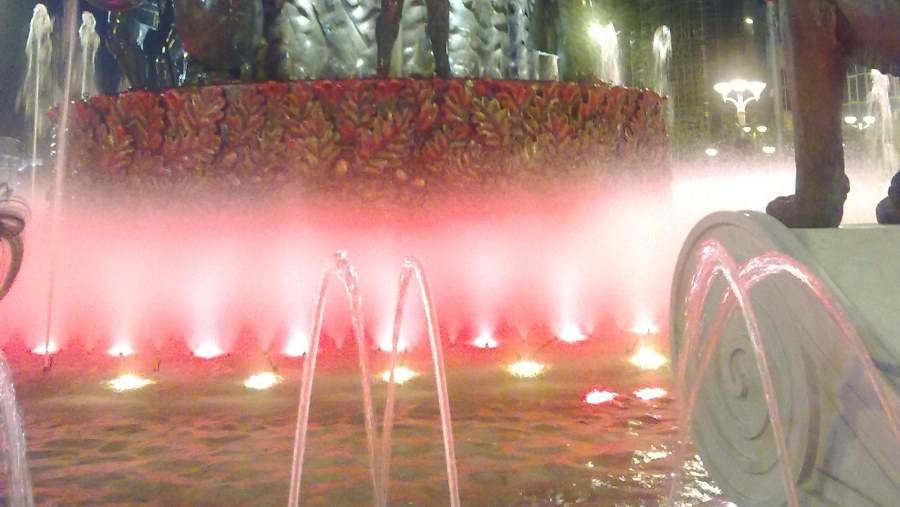 Night lights of the fountain