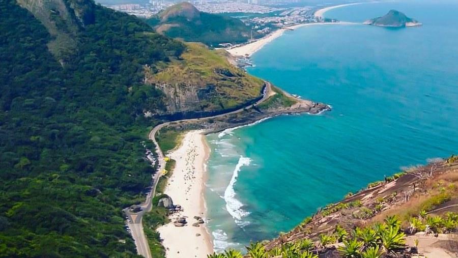 Prainha and macumba beaches view from the top