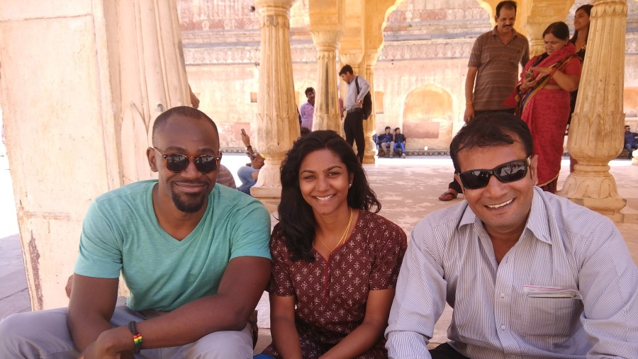 At amber fort with guest from London