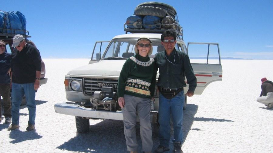 Javier Ramirez in the Uyuni salt field