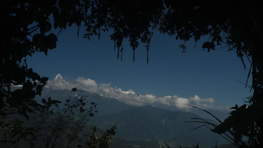 From Dhampus as seen Annapurna mountain view