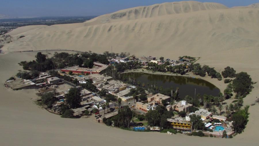 Huacachina panoramic view.