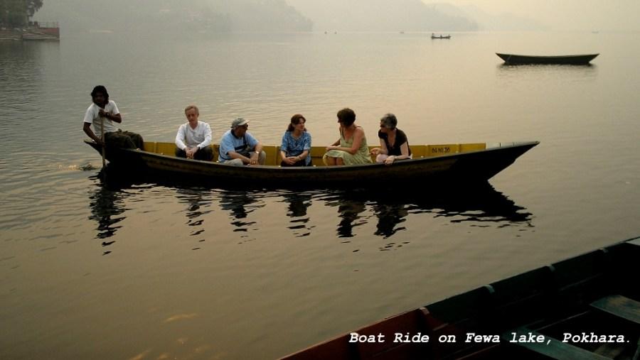Boat ride on fewa lake