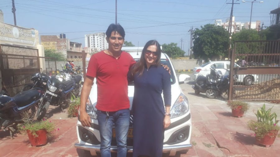 Driver Amit with Guest