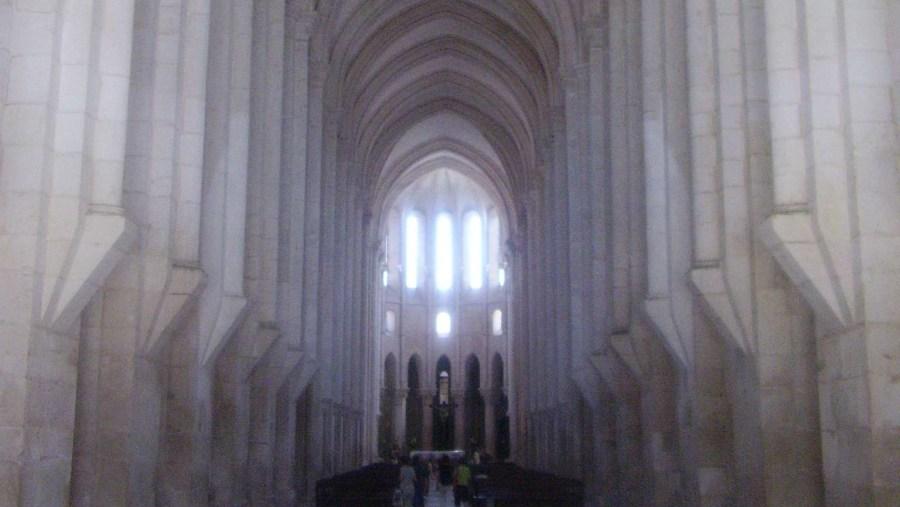 Interior of Mosteiro de Alcobaça church