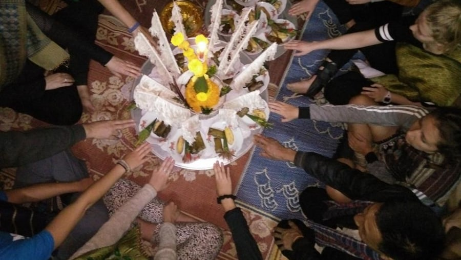 Baci Ceremony held at local house