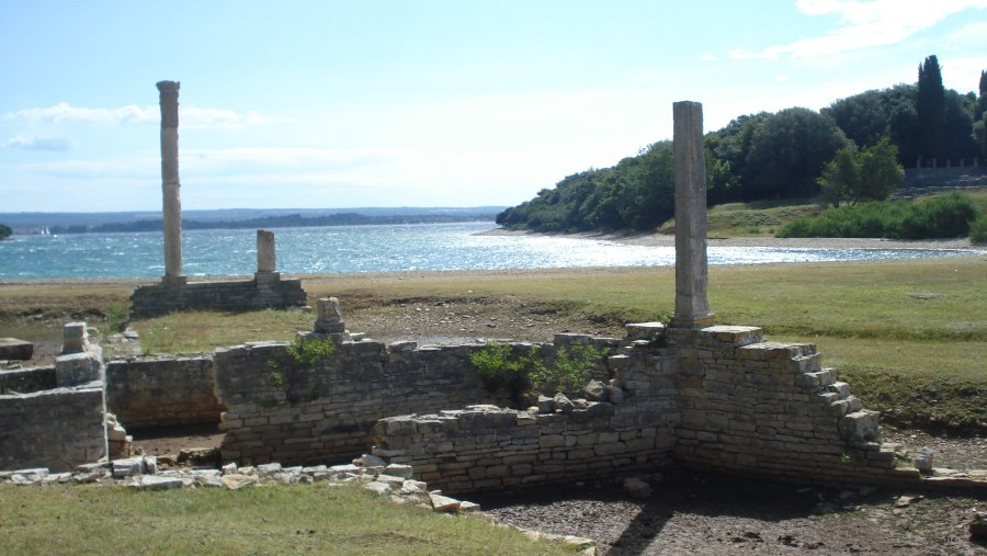 Ruins of an ancient Roman temple of Venus on Brijuni island