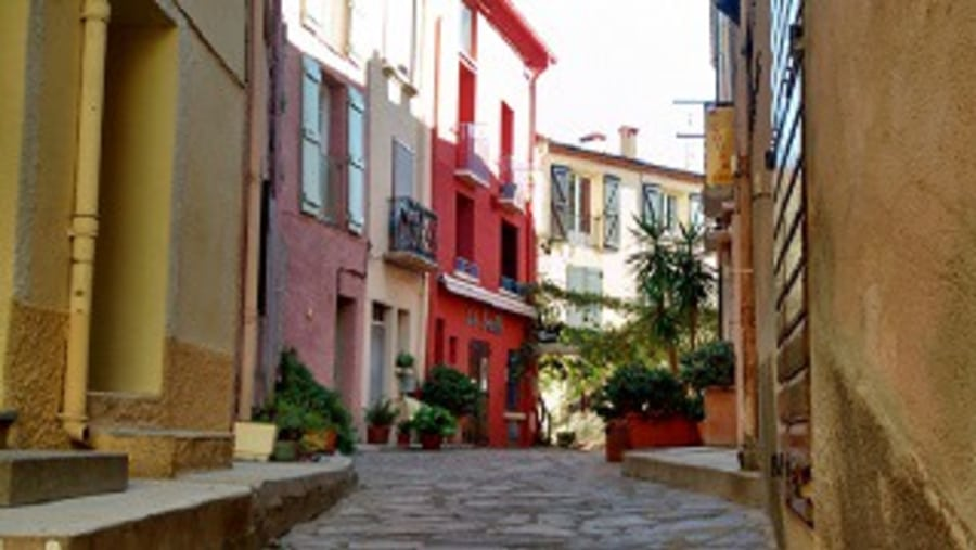 Beautiful Collioure streets -France