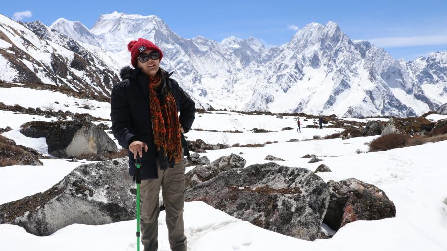 Mount manaslu view (world eight highest, 8156m)