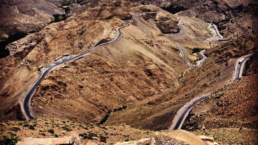 Atlas mountain pass of Tizi n Tichka