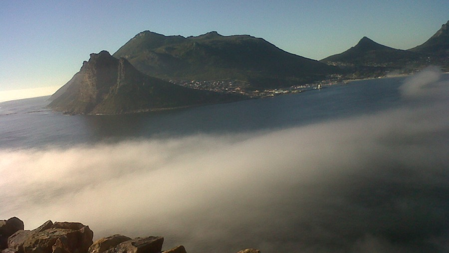 Hout Bay shrouded by mist