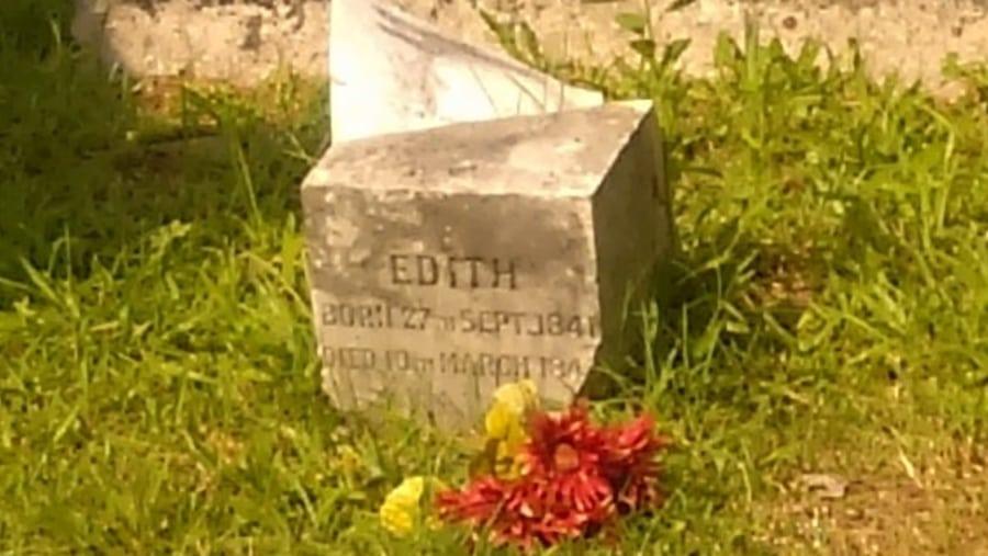 Detail of Broken Headstone;
