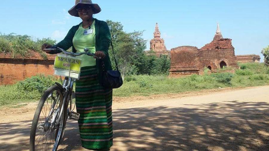 Touring around Bagan by bike