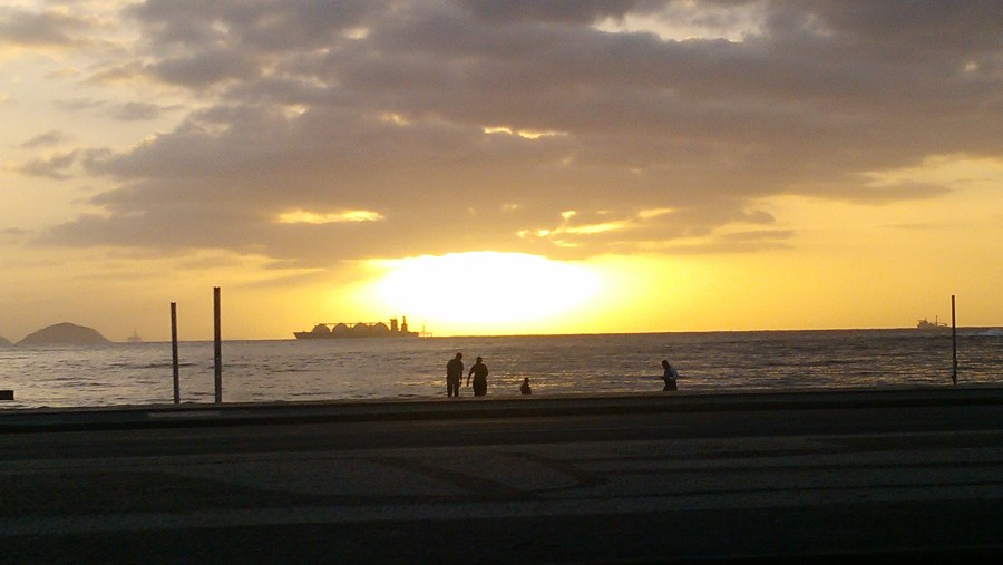 Copacabana Beach, 6:15am