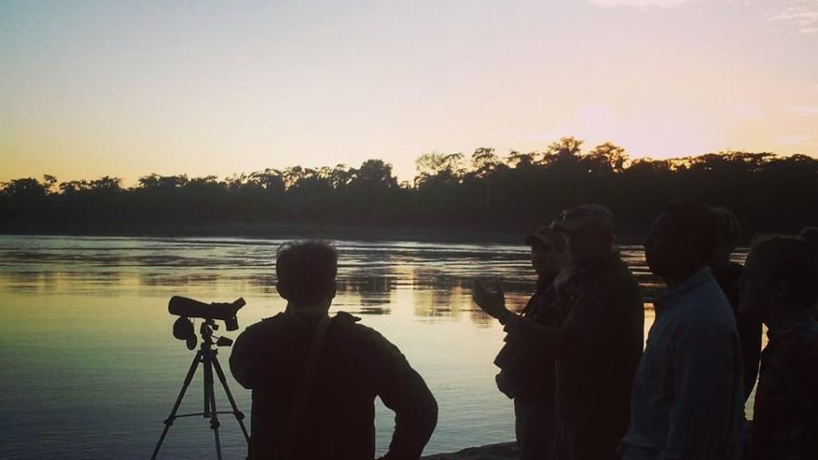 Sun Rise on the Madre de Dios River