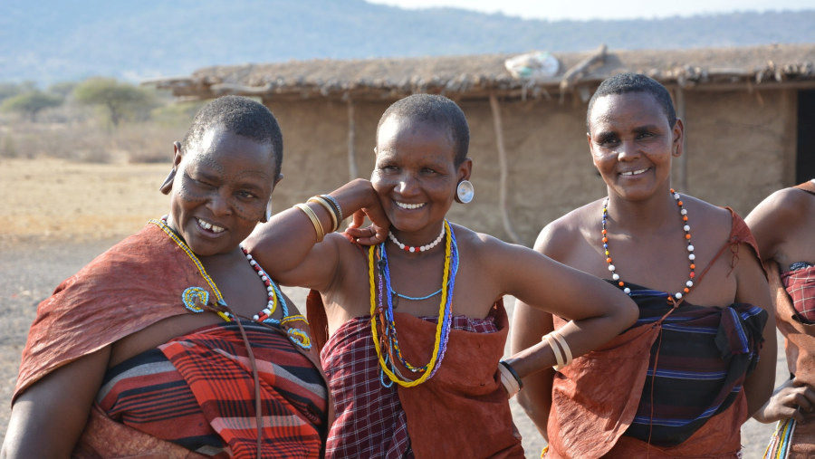 Datoga women in lake Eyasi Tanzania
