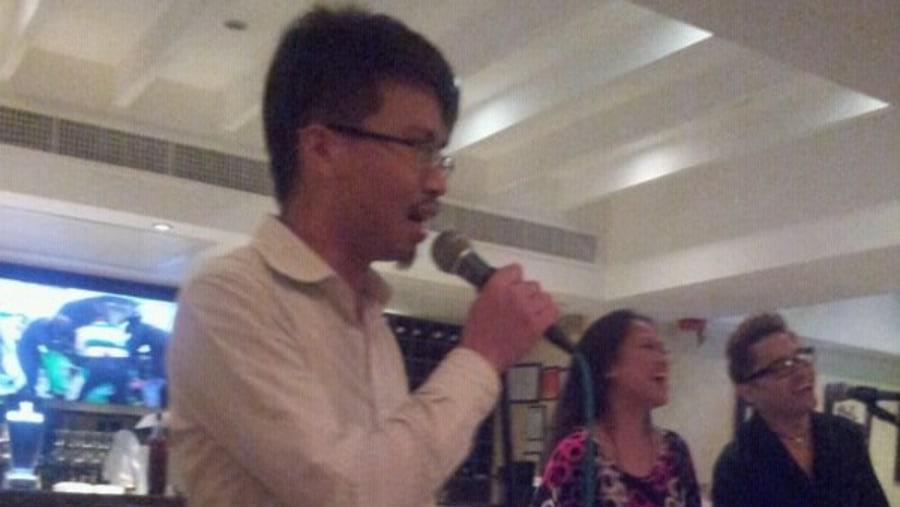 Singing in pub