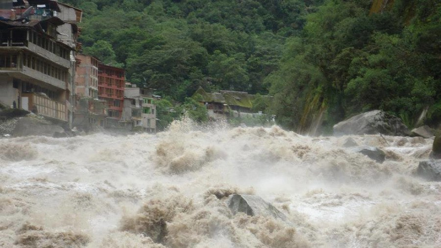 Urubamba River Cusco Raining season