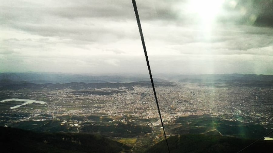 View of Tirana from the Cable Car