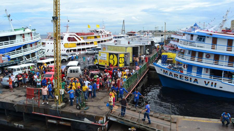 Manaus cargo Port at Amazonas River