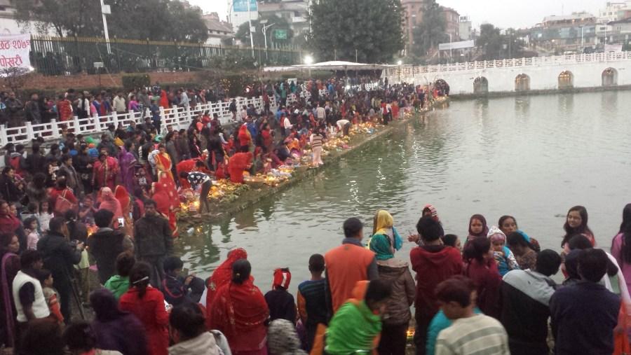 Ranipokhari during festival