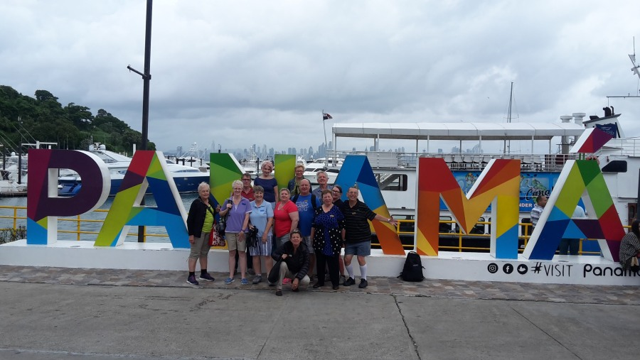 Party of 13 heading to our Partial Panama Canal Transit