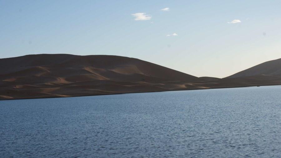 lake of Yasmina in Merzouga