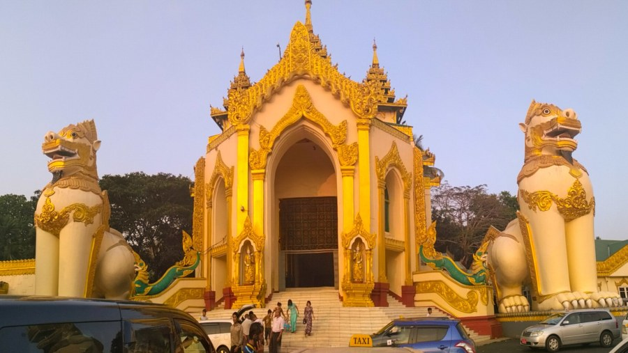 Western gate of Shwedagon