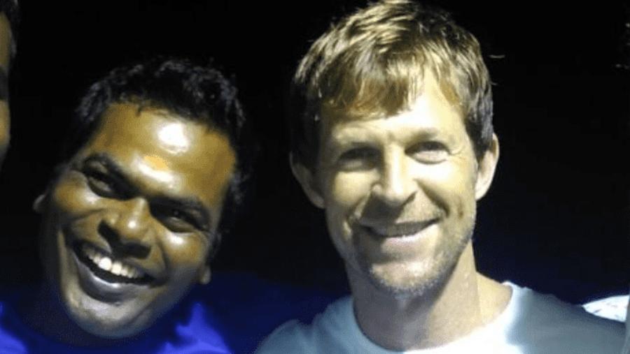 South African cricket player Jonty Rose with Sankaran Kumar