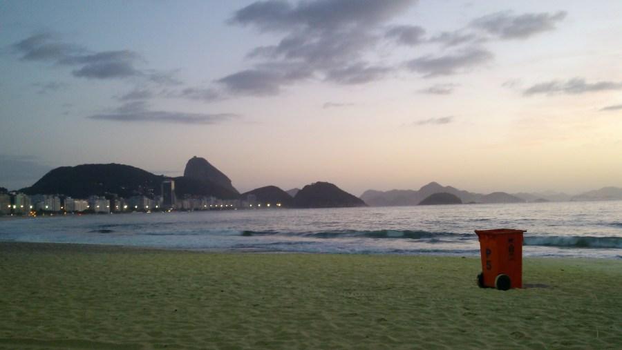 Copacabana Beach, 6:05am