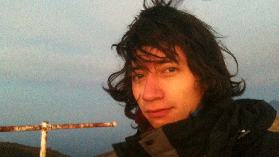 Me, at the summit, used to wear long hair by that time