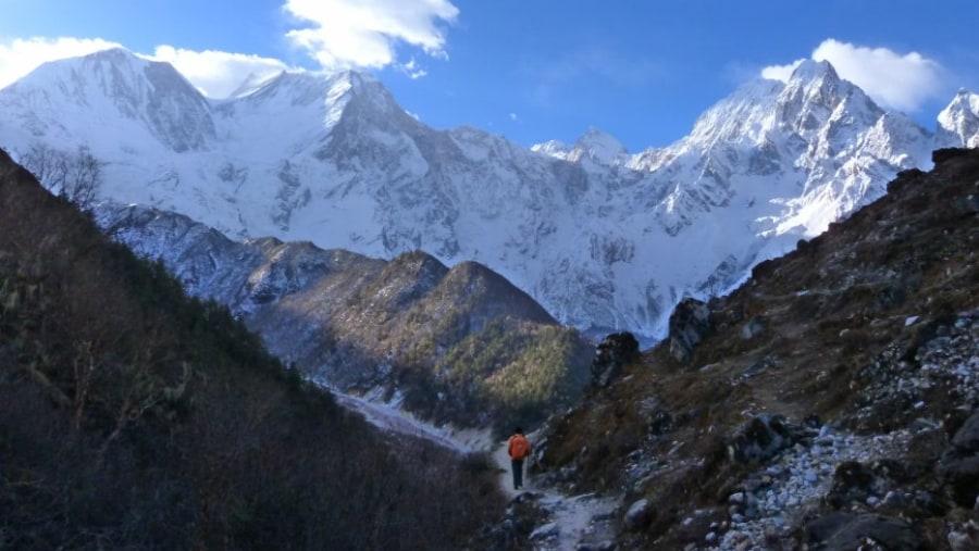Mt manaslu from Bhimtang