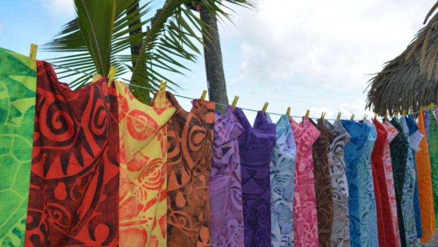Sarongs made in Rarotonga