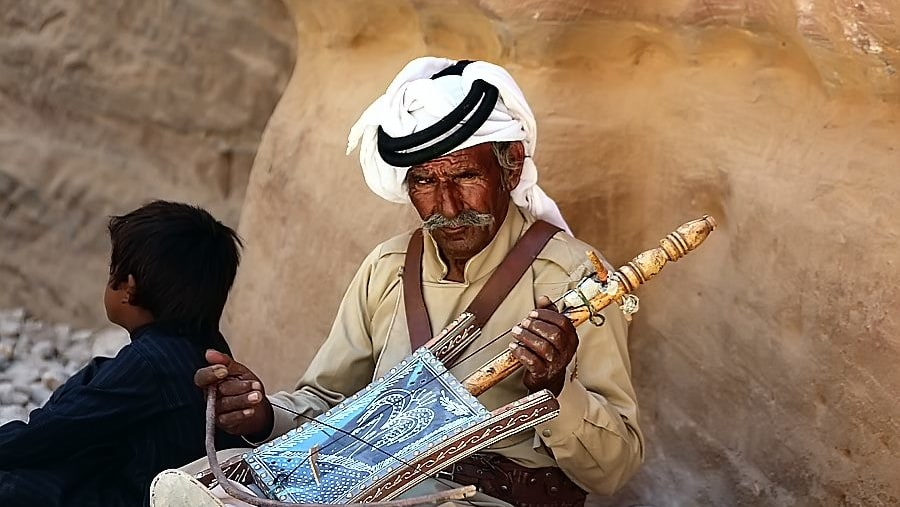 A bedouin Rabbabah player